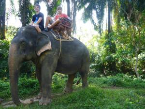 Projížďka na slonovi v Ao Nangu v Thajsku