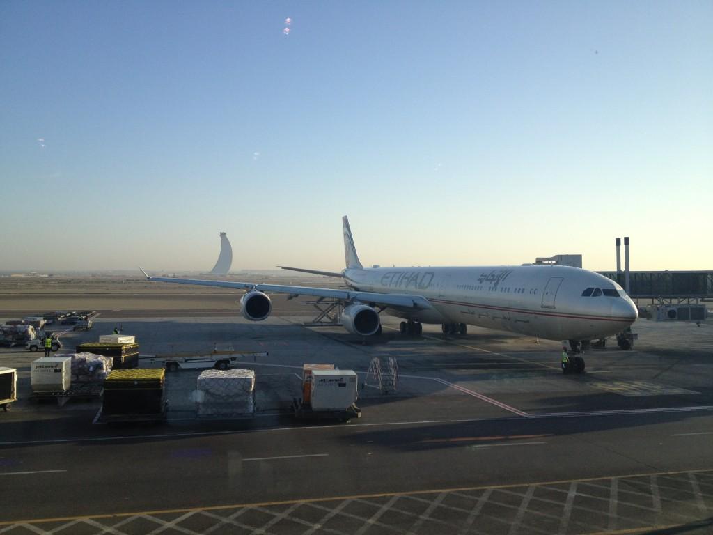 na letišti v Abu Dhabi