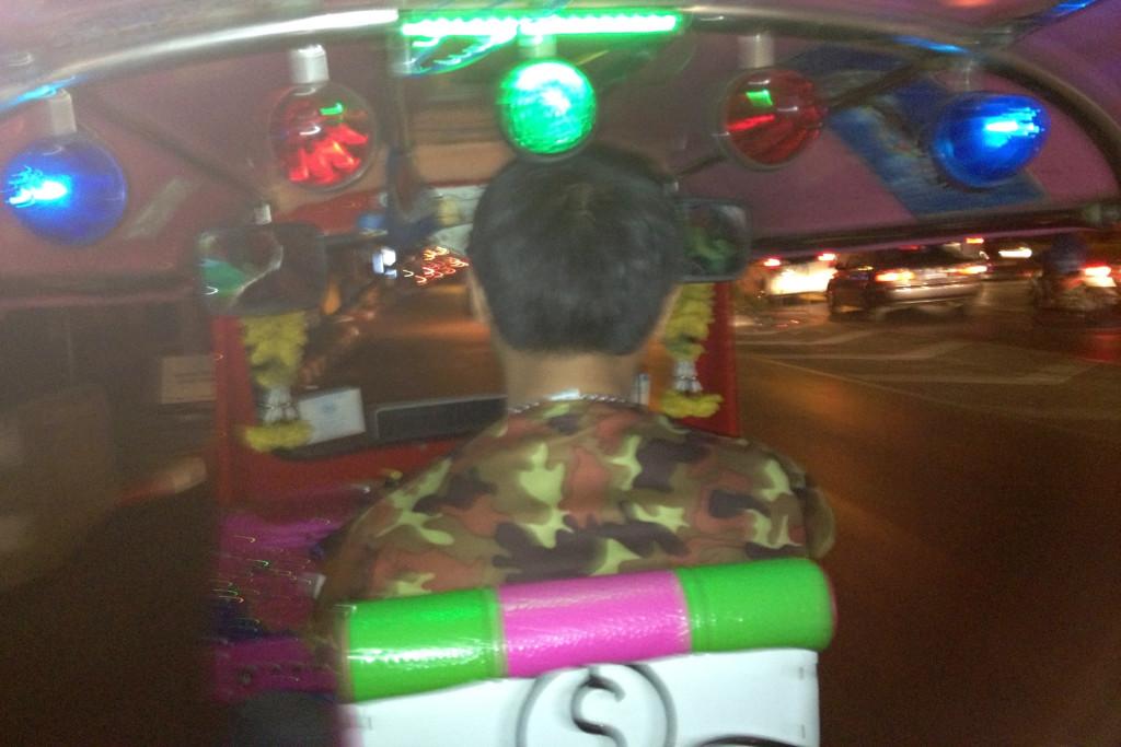 TukTukem na KhaoSan road za 120 bahtu