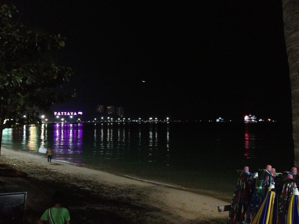 Svítící nápis Pattaya city