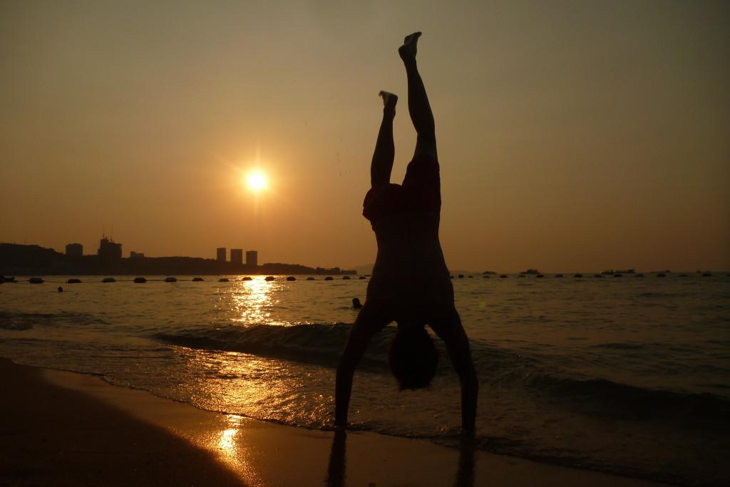 Západ slunce na Pattaya