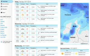 norská přepověď počasí yr.no