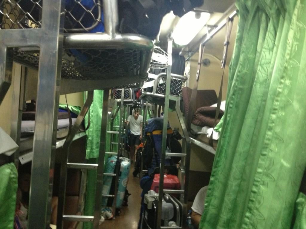 Nočním vlakem z Bangkoku do Surat Thani