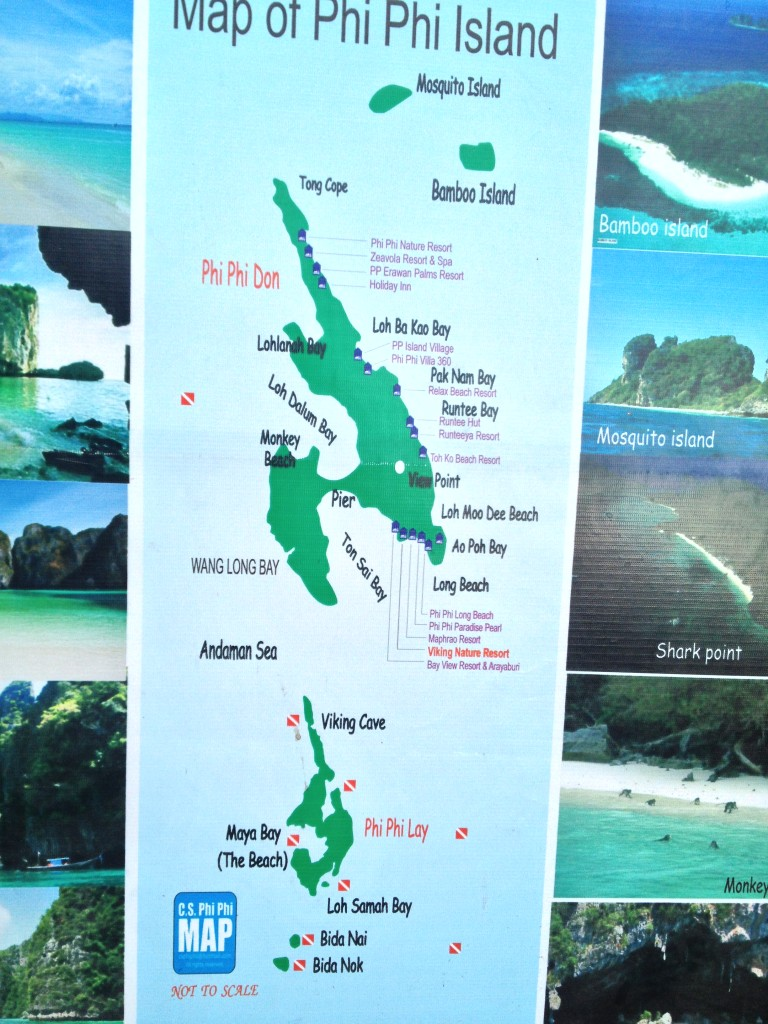 ostrovy Phi Phi mapa