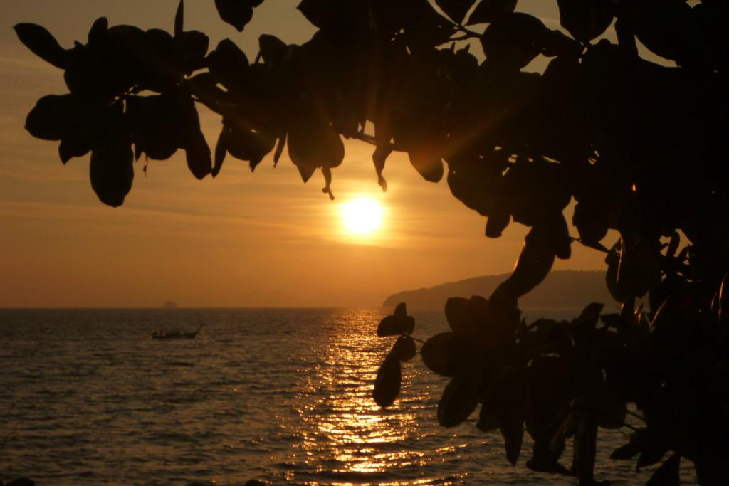 Ao Nang západ slunce