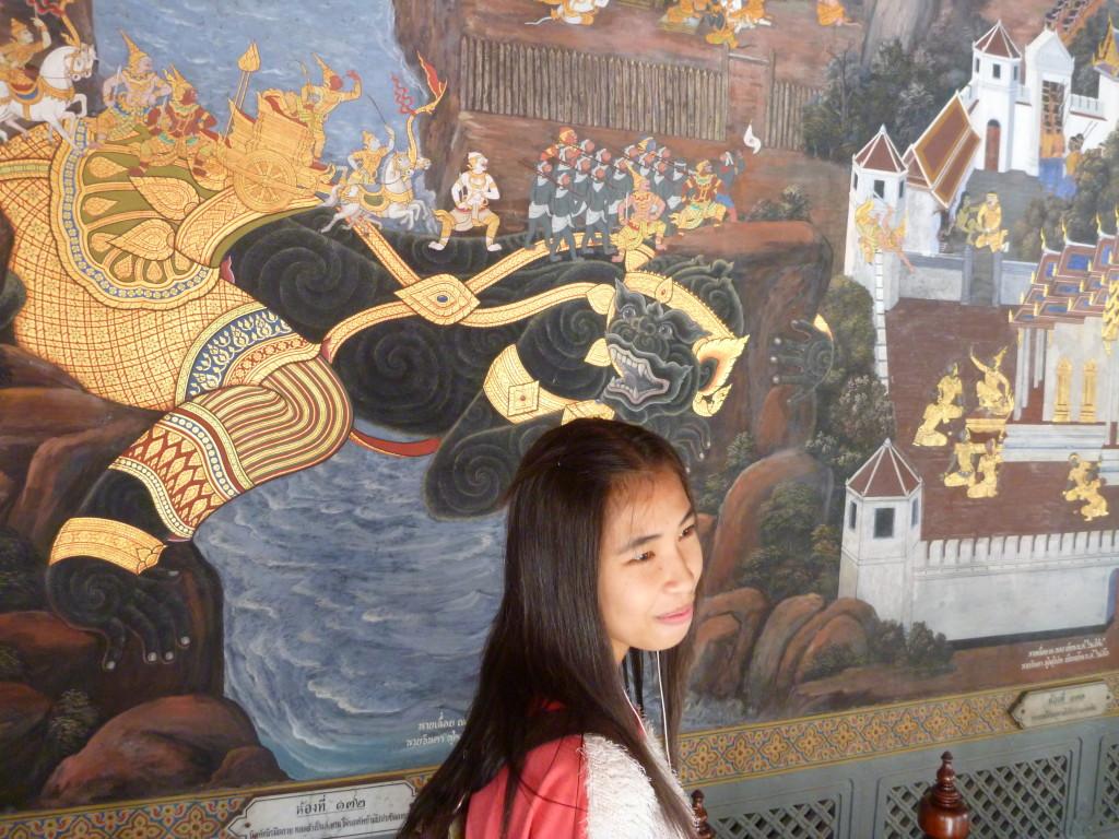 Historie Bangkoku na zdech Wat Phra Kaew