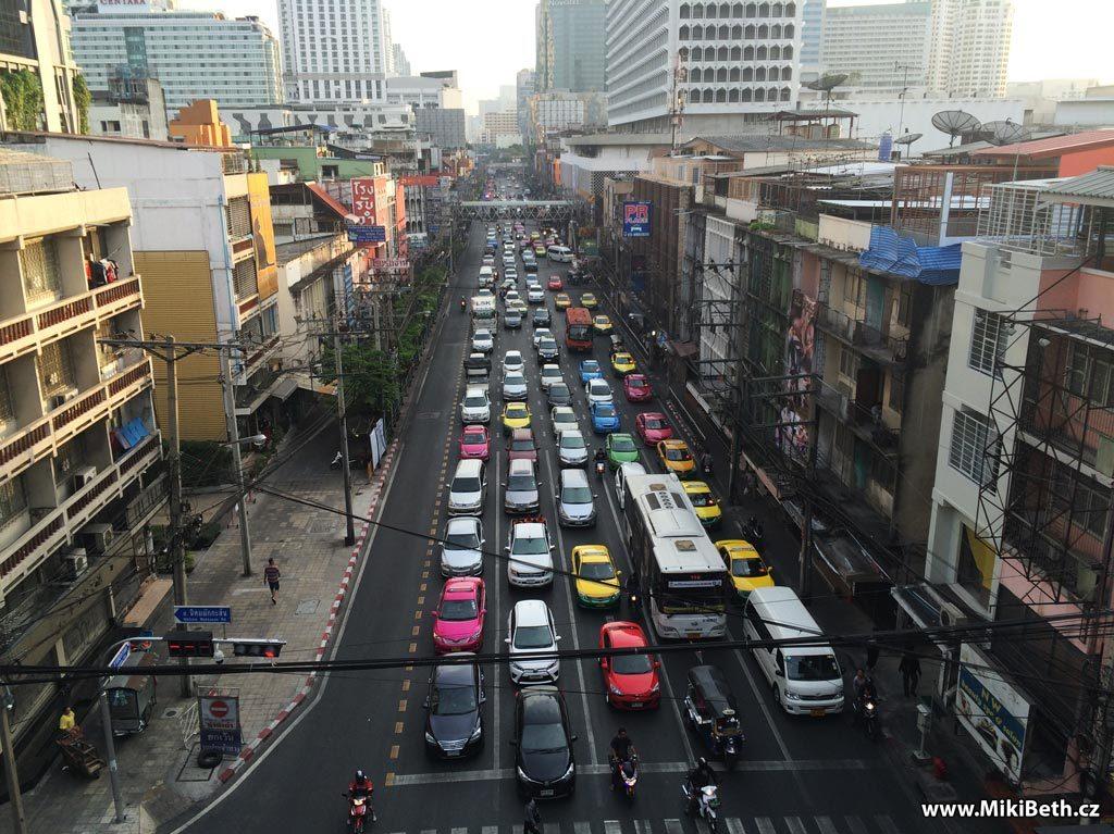 dopravní zácpa bangkok
